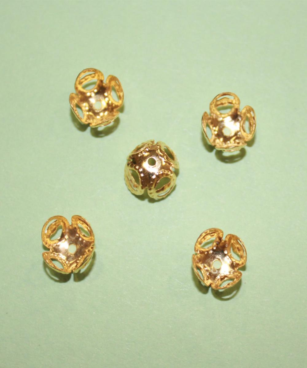 52 Колпачок для бусин 8x5мм золото - Goldhand в Киеве