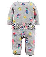 Человечек хлопковый Carters для новорожденной девочки до 55 см, фото 2