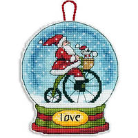 70-08903 Набор для вышивания крестом DIMENSIONS Рождественское украшение Снежный шар Любовь