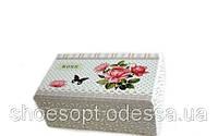 Шкатулка для украшений Розы в стиле Прованс 16х9х7 см