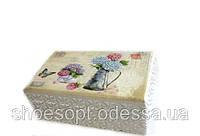 Шкатулка для украшений Гортензии в стиле Прованс 16х9х7 см