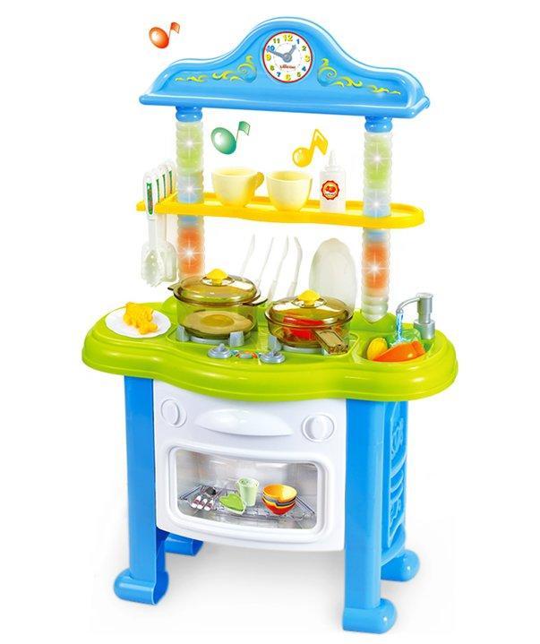 Кухня с водой, светом и музыкой 828A/B, высота 64 см(голубая)