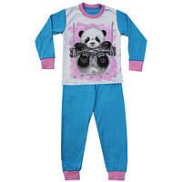 Детская пижама для девочек Панда 116-122