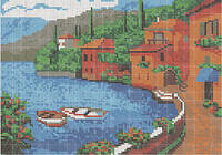 Схема для вышивки бисером «Курортный городок»