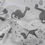 """Муслиновая пеленка """"Динозаврики"""" 80*100 см"""