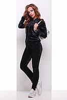 Спортивный костюм женский 1754 женская спортивная одежда, черный, 48