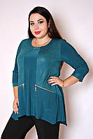 Туника большого размера Тамара (2 цвета), красивая туника большого размера, одежда больших размеро