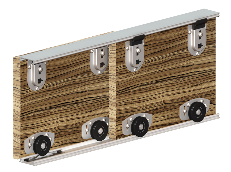 Набор роликов Valcomp (ARES 2) для шкафа-купе,  на 1 дверь