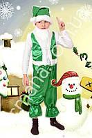 Карнавальный новогодний костюм Гномик (4 цвета) зеленый