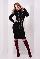 Вязаное платье 135 черный