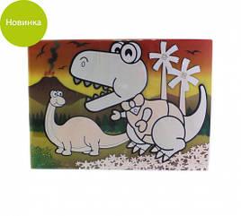 """Коврик """"Динозаврики"""" 29х21х0.2см пластиковый для рисования водой Fissman"""