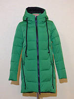 Зимняя женская куртка без меха с наушниками