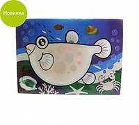"""Коврик """"Рыбка"""" 29х21х0.2см пластиковый для рисования водой Fissman"""