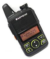 Рация Baofeng BF-T1 UHF (20 каналов,ультратонкая)+гарнитура