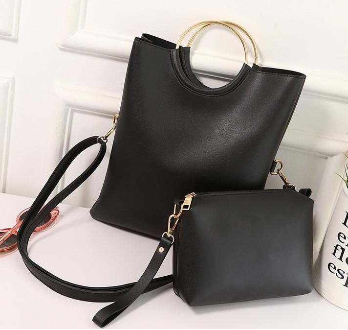Набор женских сумок 2в1, из экокожи, цвет черный, СС3500-10