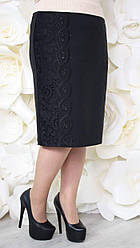 Юбка большого размера Монреаль (2 цвета), прямая юбка большого размера 48, темно-синий