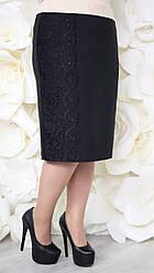 Юбка большого размера Монреаль (2 цвета), прямая юбка большого размера