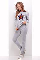 Спортивный костюм женский 1742 женская спортивная одежда, светло-серый, 46
