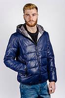 Куртка мужская спортивная, пуховик №249KF001 (Темно-синий)