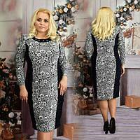 Платье большого размера Агава цветы абстракция, платье от производителя, платье для полных женщин