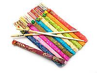 Палочки для еды бамбуковые с рисунком в футляре (набор 10 пар)