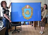 Флаг Черкасской области односторонний, размер 1000х1500, флажная ткань, люверсы для флагштока