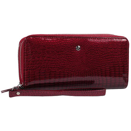3ffaf364ff0d Красивый женский кожаный кошелек две молнии лаковый красный AL-AE38-2RED,  фото 2
