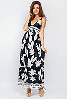 Платье макси женское черно-белое 19PG029-1 (Черно-белый)