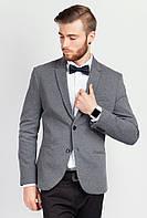 Пиджак приталенный мужской 197F019 (Серый)