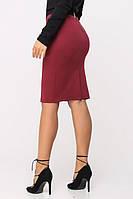 Юбка 6095, юбка коттоновая, юбка прямая, черная юбка прямая, дропшиппинг