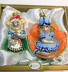 Набор Елочных игрушек Дюймовочка и Полевая Мышь