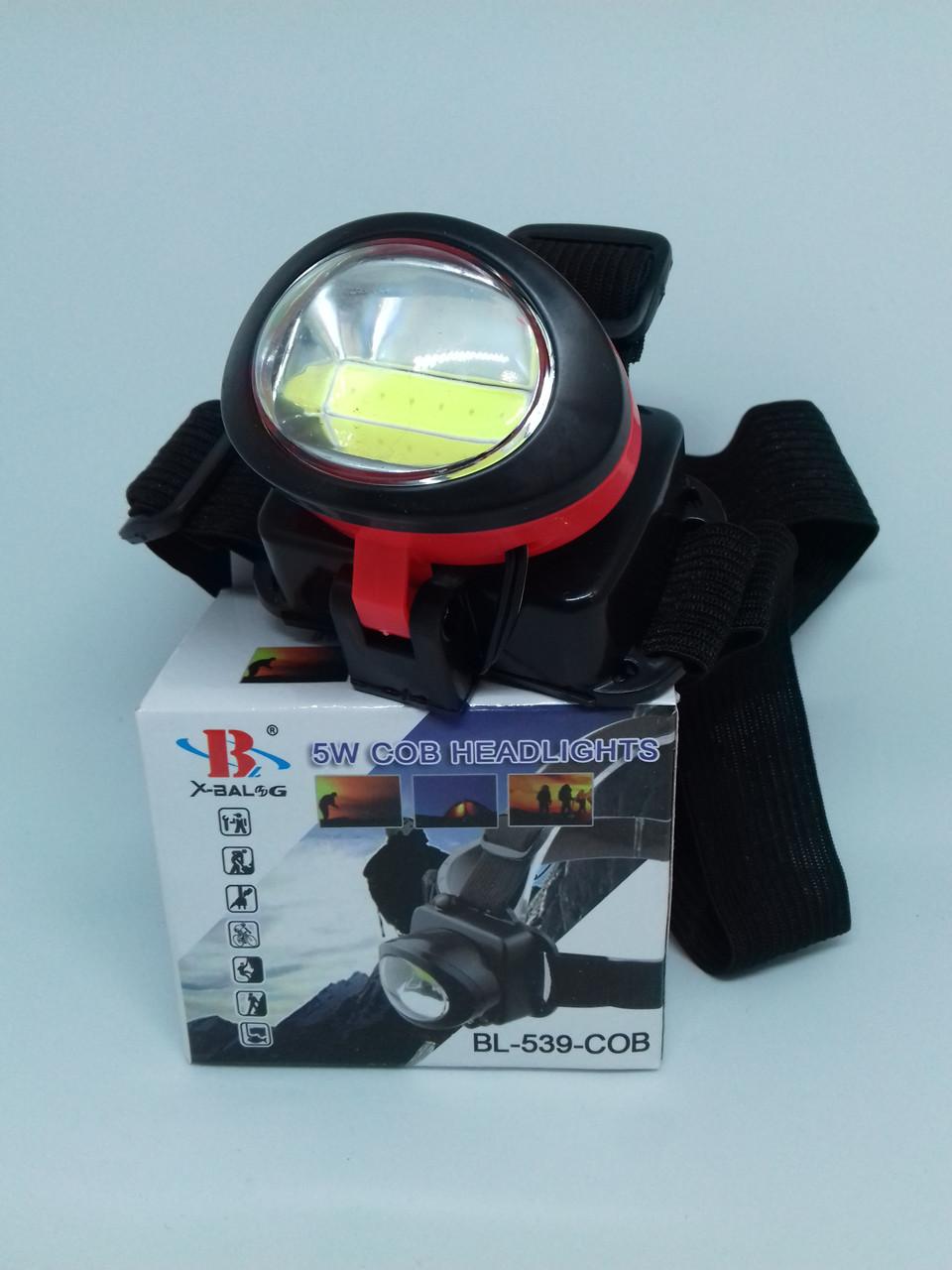 Налобный фонарь Bailong BL-539 COB