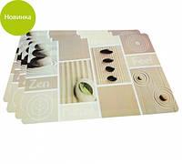 Комплект из 4-х сервировочных ковриков 43.5х28.5х0.1см пластиковый на обеденный стол Fissman
