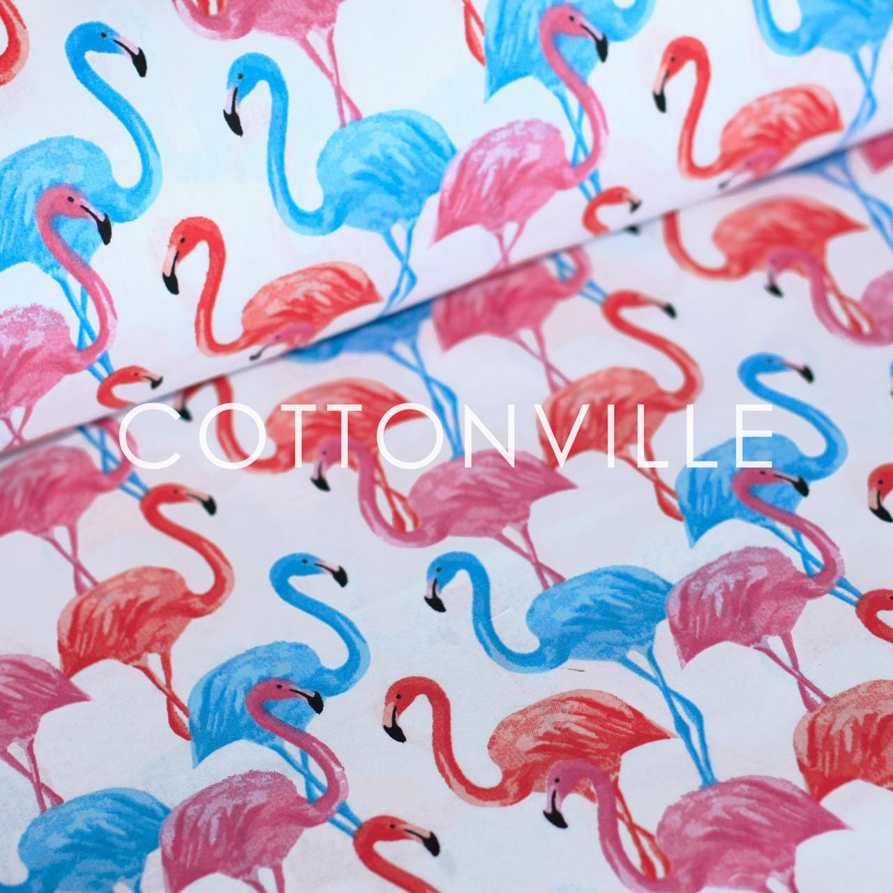 Хлопковая ткань Фламинго
