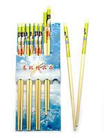 """Палочки для еды бамбуковые с рисунком """"Гейша"""" (5 пар)"""