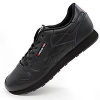 Мужские кроссовки Reebok classic (Рибок класик) черные большие размеры  р.(49) ceff6257ccc