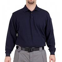 Футболка Поло тактическая с длинным рукавом 5.11 Tactical темно-синяя