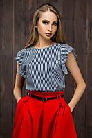 Блуза в полоску 8045, полосатая блузка