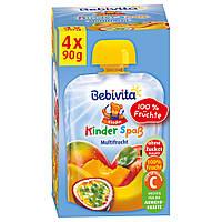 "Bebivita  Kinder Spaß Multifrucht - ""Детская Забава"" Мульти-фрукт 4 шт.x 90 г, с 1 года"