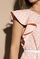Блуза горох 1859, блузка в горошек