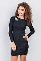 Платье женское, приталенное 387F002-1 (Черный)
