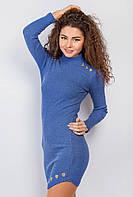 Платье женское, стильное 387F004 (Сине-сиреневый)
