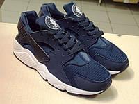 Мужские Кроссовки Nike Хуарачи Синие на белой подошве