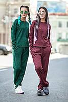 Спортивный костюм женский Айс норма (2 цв), трикотажный спортивный костюм, женская спортивная одежда, бордо, 44-46