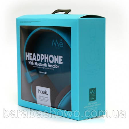 Бездротові навушники HAVIT HV-H2556BT, (blue), з мікрофоном