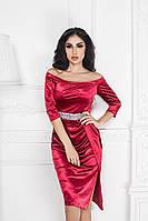 Платье Вечернее роскошное декольте красное