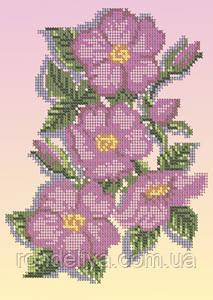 Схема для вышивки бисером «Шиповник в цвету»