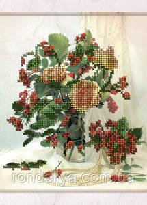 Схема для вышивки бисером «Букет с красными ягодами»