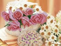 Схема для вышивки бисером «Ромашки и розы»