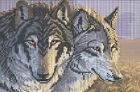 Схема для вышивки бисером «Волчья стая»